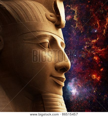 Ramses Ii And Galactic Center Region (elements Of This Image Fur
