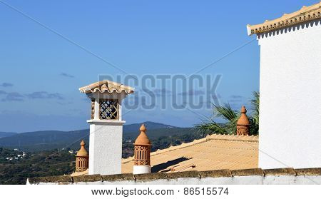 Typical Portuguese chimney pots