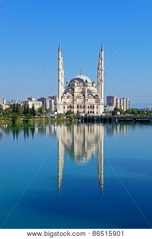 Big Mosque With Six Minaret In Adana, Turkey