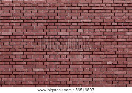 Marsala Brick Wall Background