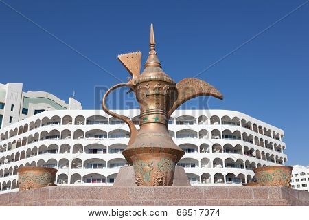 Coffeepot Monument In Fujairah