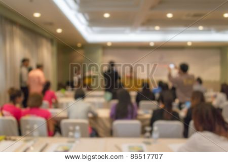 Blurred People In The Meeting Room