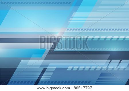 Abstract Vector Blue Wave Background, Futuristic Technology Design