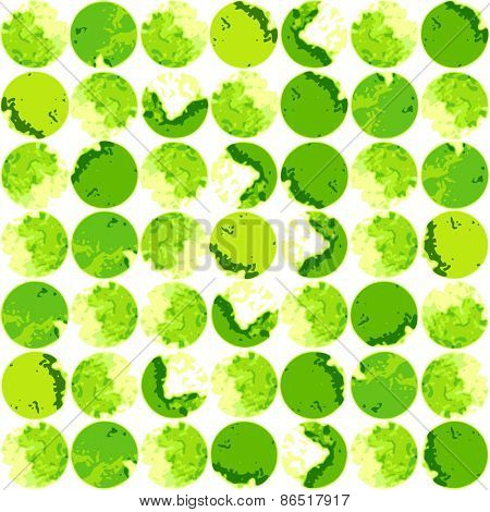 Watercolor modern pattern with blue polka dots. Abstract background. Vector illustration.