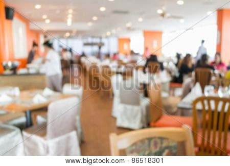 Blurred People In The Cafeteria