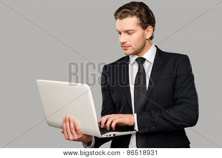 Businessman With Laptop.