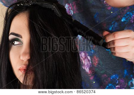 hairdresser curl curling hair