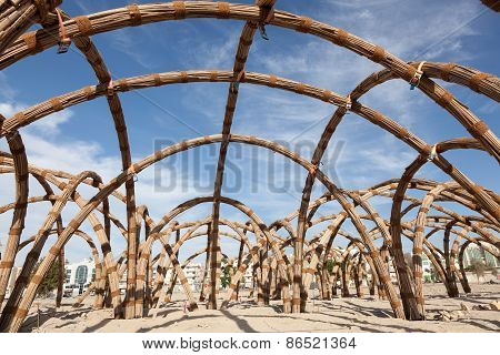 Bamboo Structure In Al Ain
