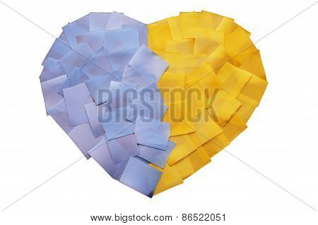 Heart Of The Pieces Of Tape