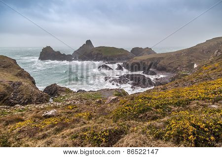 Kynance cove in cornwall england UK