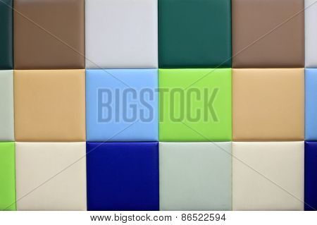 Soft Wallcovering Panel At Children Indoor Playground