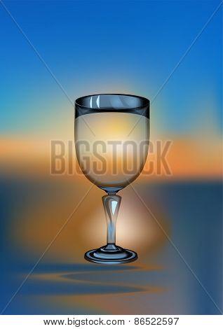 Wine Glass Sunset