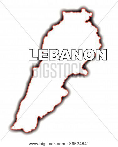 Outline Map Of Lebanon