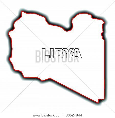 Outline Map Of Libya