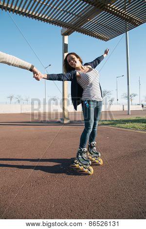 Girls Skating