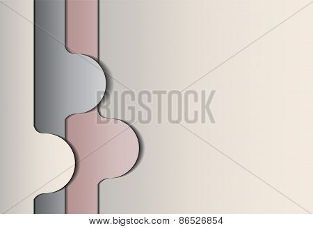 Abstract shapes on gray background.
