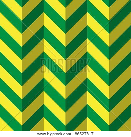 Abstract Geometric Background In Green And Yellow