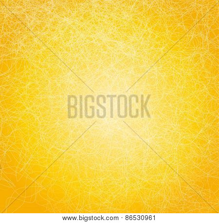 Vector illustration with yellow abstract background.