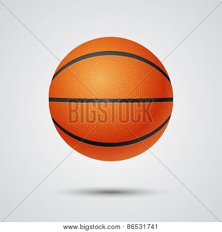 Basketball, front view