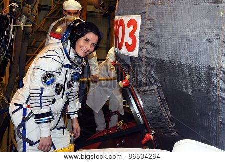 Astronaut Samantha Cristoforetti During Dress Rehearsal Fit Check