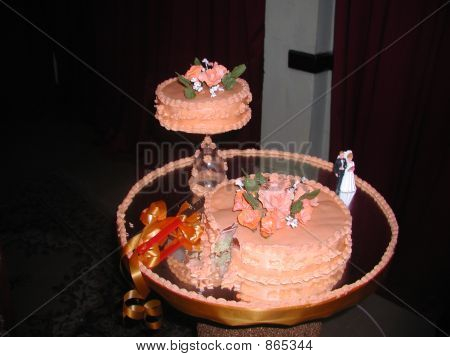 Cake to be cut at the wedding