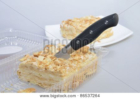 Cutting Napoleon Cake