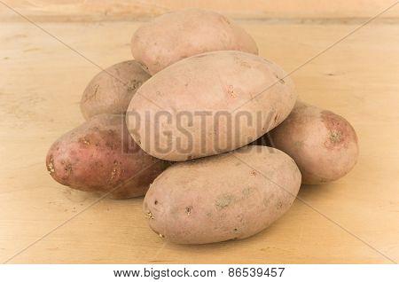 Unwashed Raw Potatoes