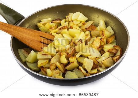 Fried Potatoes At Home In A Frying Pan