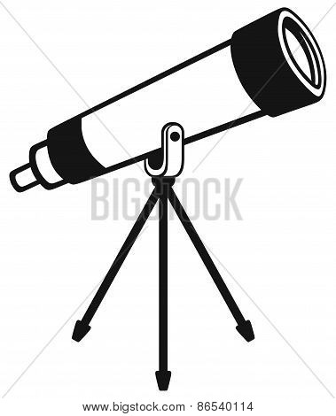 Telescope in tripod