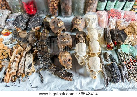 Animal Heads In Market