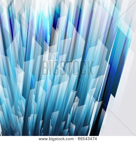 abstract background with transparent blue-gray elements.