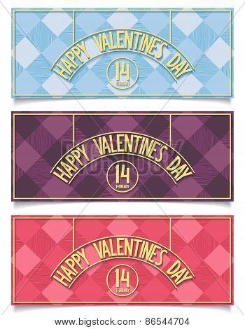 Three festive banners