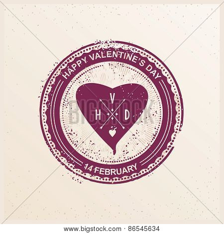 Stamp with heart
