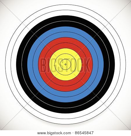 Printable Archery, Arrow Target With Cross At Center