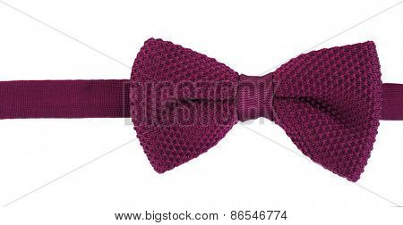 Male bow tie isolated on white