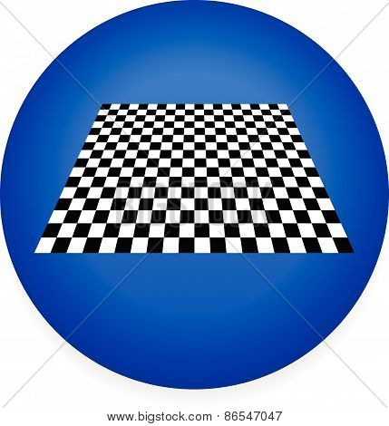 Simple Icon With Checkered Plane - Checkerboard, Chess Board Pattern