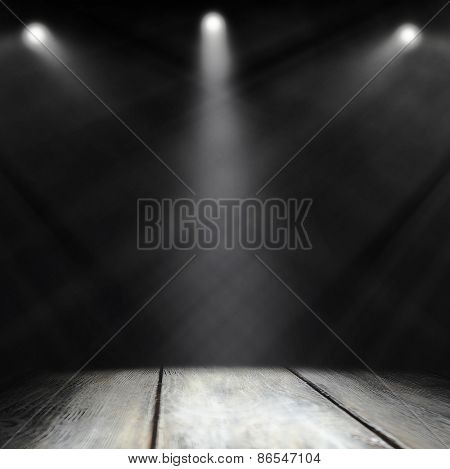 Empty stage before concert
