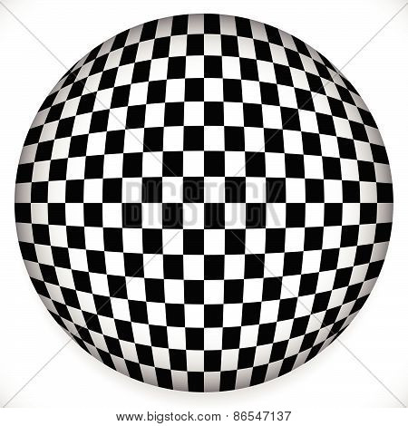 Sphere With Checkered Pattern