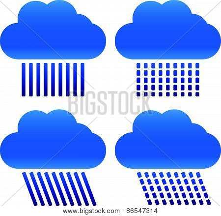 Different Raincloud Symbols
