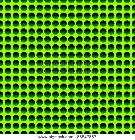 Seamless Circle Pattern In Vivid Green