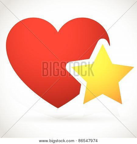 Add To Favorites Icon - Heart With Star