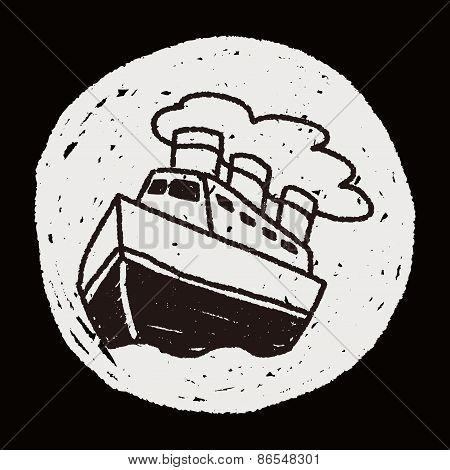 Doodle Steamship