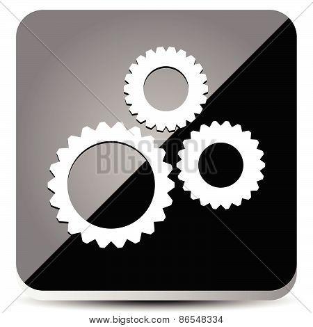 Sleek Gear Icon