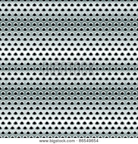 Perforated Metal Background. Punched Metal With Circles.