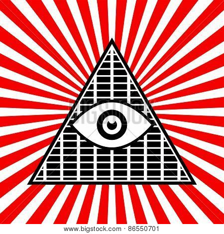 Symbolic Pyramid Graphics With The All-seeing Eye