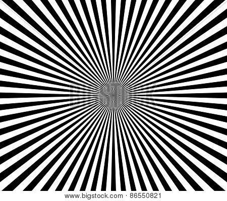 Black And White Starburst, Sunburst Backdrop