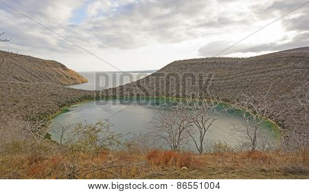 Remote Lake On A Volcanic Island