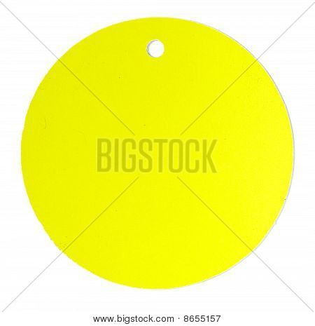 Round Color Blank Tag Label