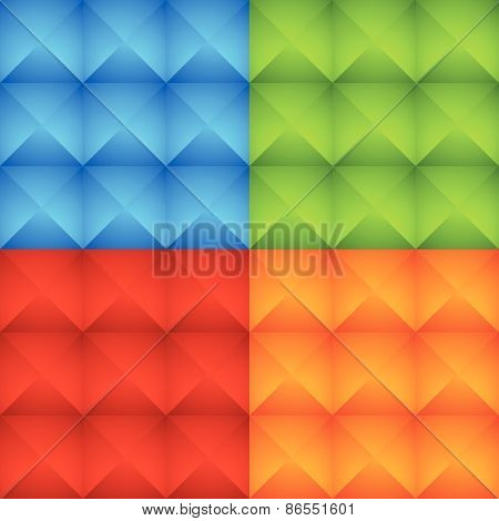 Abstract Colorful Studded Pattern, Background Set