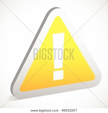 Triangular Sign / Road Sign With Exclamation Point - Caution, Attention Warning Concepts